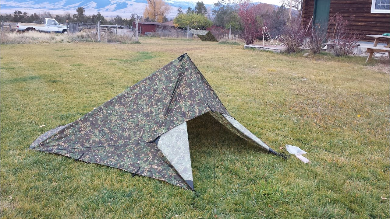 Medium image of etowah outfitters bcusa 10x10 camo tarp vs dd 3x3 multicam tarp   youtube