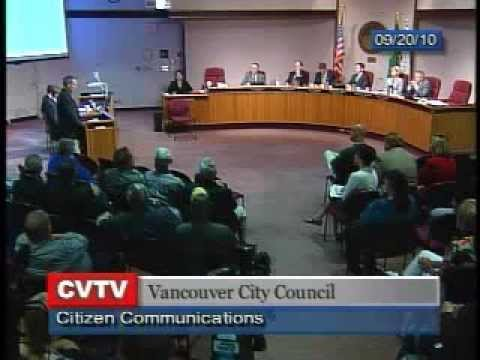 David Madore appears at Vancouver City Council in 2010