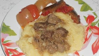 Тушеное утиное мясо