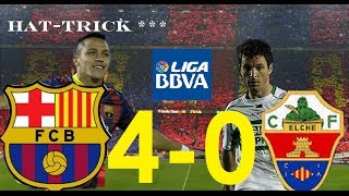 vuclip Barcelona vs Elche 4-0 | TODOS LOS GOLES | Hat-trick de Alexis | 05/01/2014