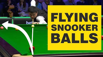 FLYING SNOOKER SHOTS   Balls Off The Table Compilation