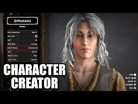 RED DEAD ONLINE - Character Creation - All Male and Female Customization