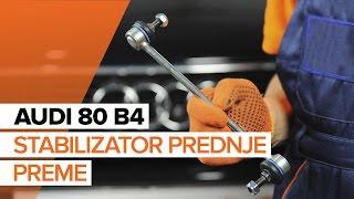 Vgradnja spredaj levi Šipka stabilizatorja AUDI 80: video priročniki