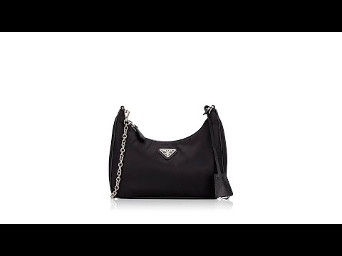 Prada 1BH204 Nylon 2005 Re Edition Shoulder Bag Nero