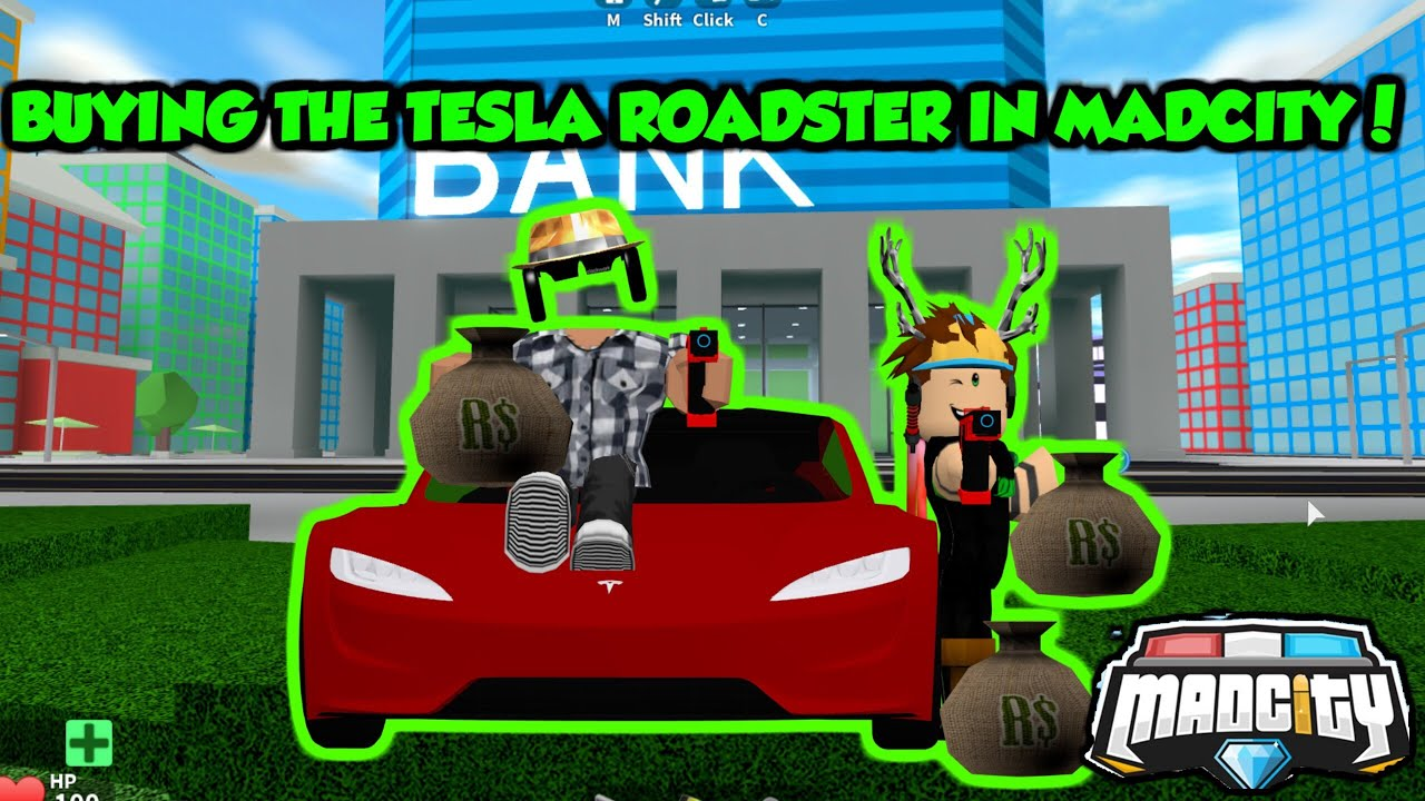 Clonny Games Roblox Profile Buying The Tesla Roadster In Mad City Roblox Youtube