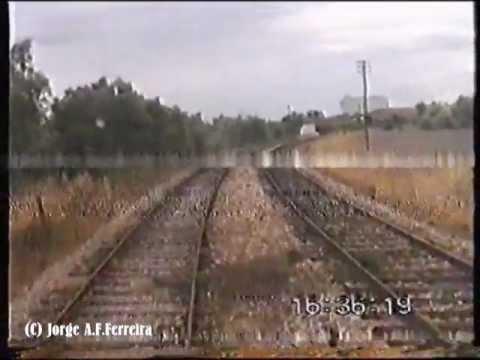 Ramal de Reguengos em drezine 1996 - Reguengos Line on works drezine (Closed Line)