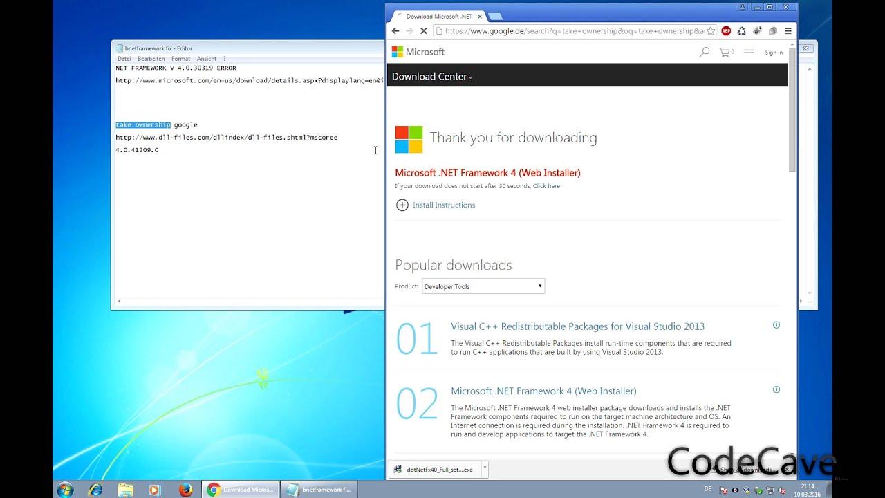 descargar  net framework v4 0 30319