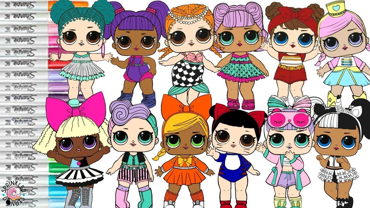 lol surprise dolls coloring book compilation color swap
