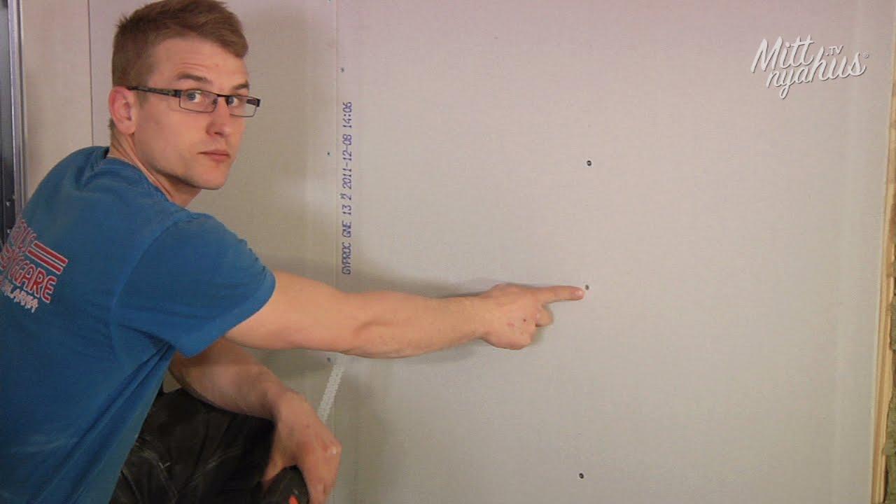 montera gipsskivor vägg