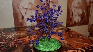 деревце из камушек. Tree of stone. Поделки из декоративных камней