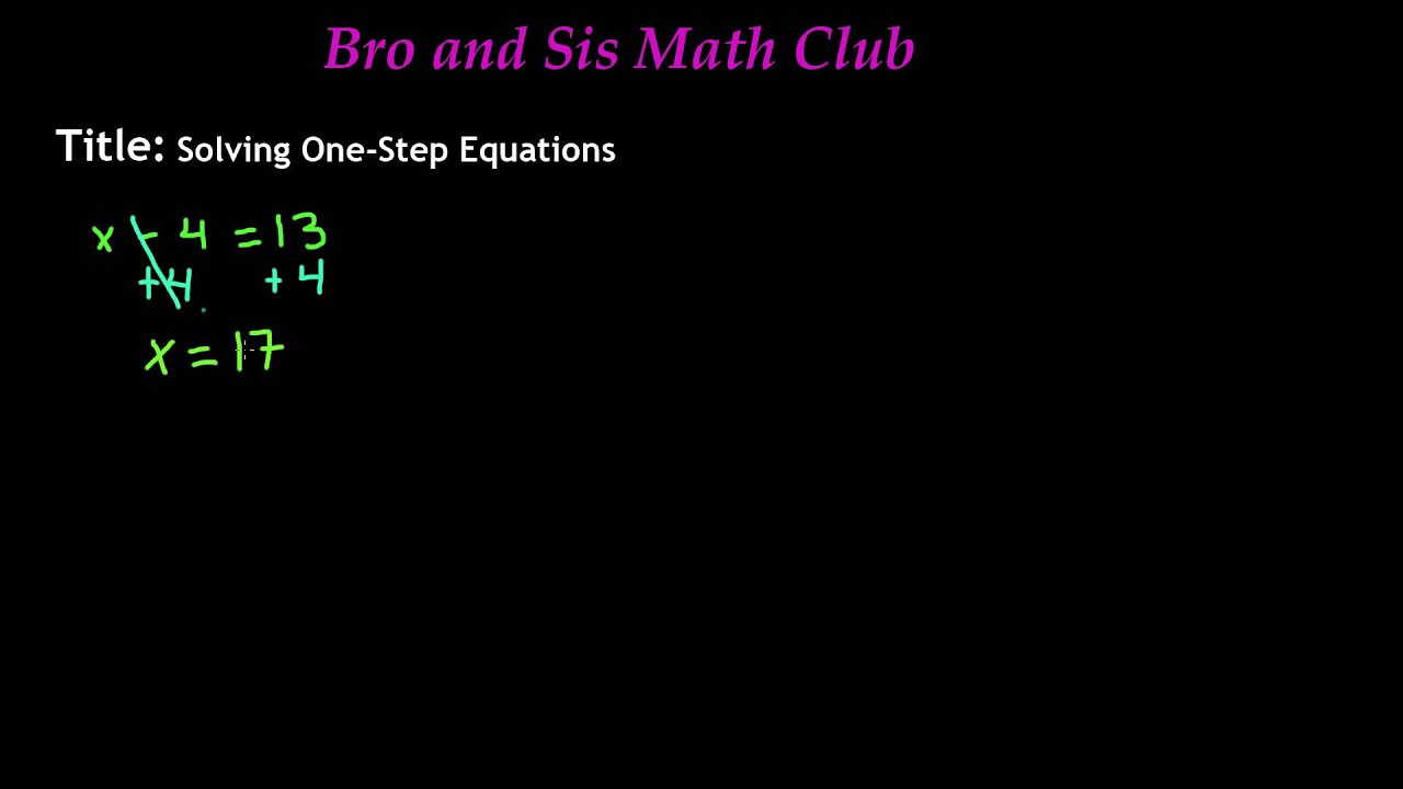 small resolution of 7th Grade Math - Solving One Step Equations - YouTube