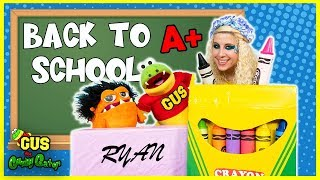 PRETEND PLAY Back to School with Giant School Supplies !