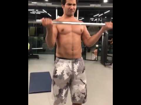 Varun Dhawan Gym Balance work - YouTube