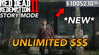 Red Dead Redemption 2- A MUST WATCH UNLIMITED MONEY GLITCH!!! (Story Mode)