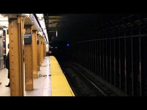 NYC Subway: (1),(2),(3), and (5) train action at Houston St(Weekday)