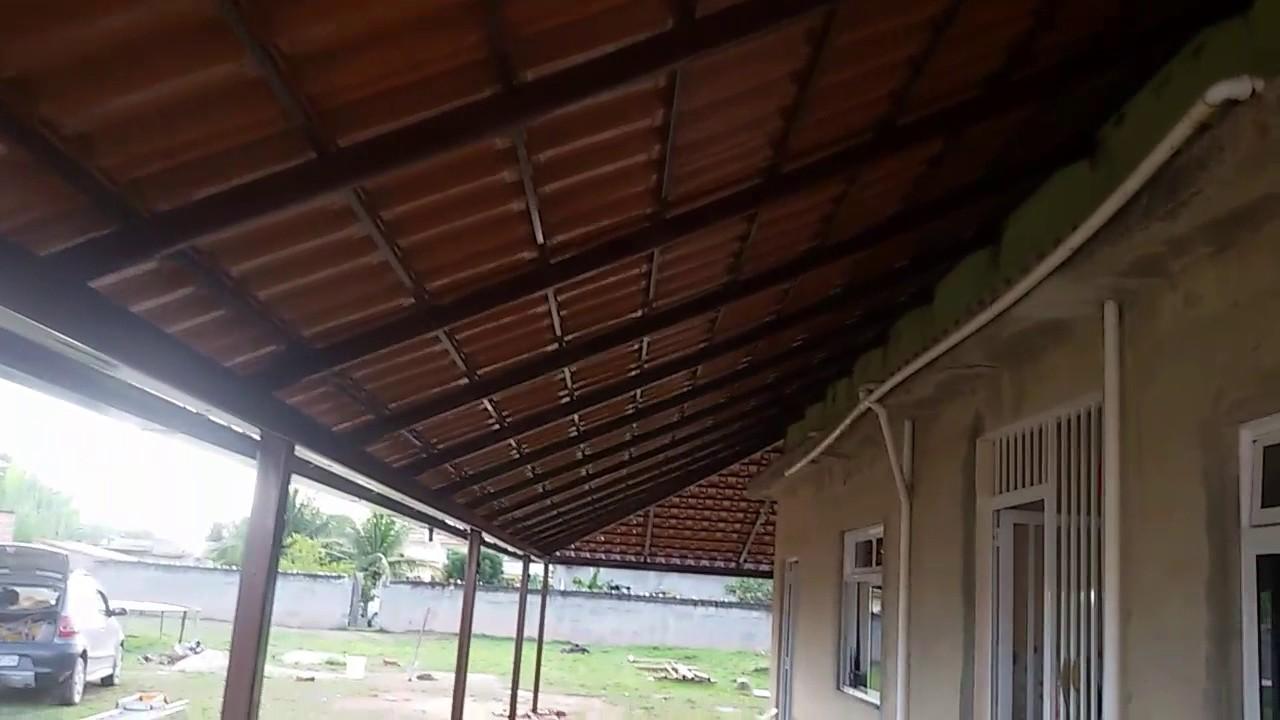 Telhado Colonial Com Estrutura Met 225 Lica Youtube
