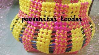 How To Make POOSANOKAI KOODAI OR (pumpkin shape basket) part2