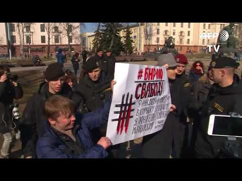 Dozens Arrested As Belarus Opposition Marks 'Freedom Day'