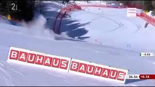На этом видео жуткое падение норвежской горнолыжницы на соревнованиях в Италии ЯПлакалъ