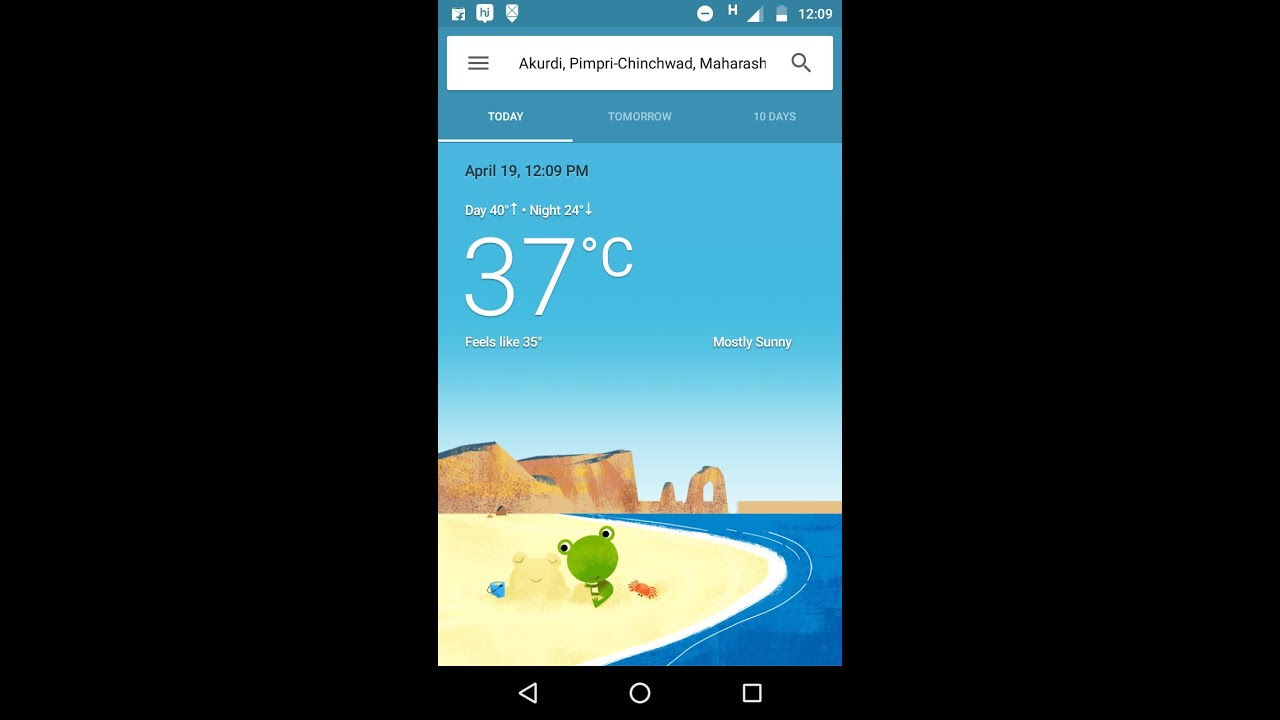 New Google weather card and it's app shortcut on home screen