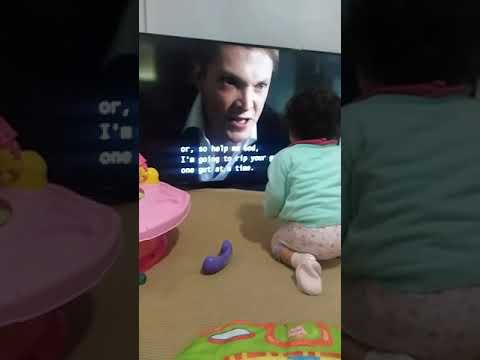 Baby Alia loves Simon Woods 😄