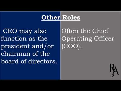 Difference between Chief Executive Officer and President