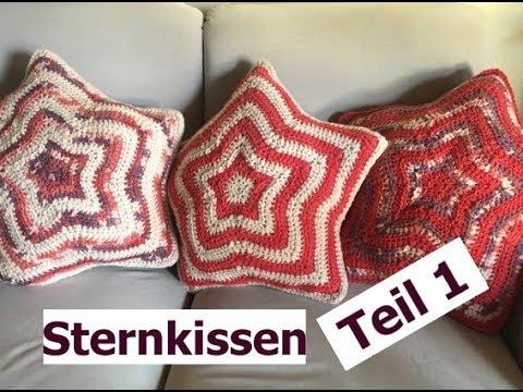 Häkeln Sternkissen Teil 1 Aus Woolly Hugs Sheep Mit Veronika Hug