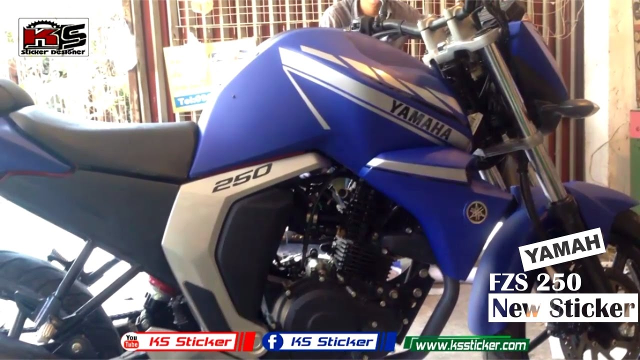 Yamaha fzs fi version 2 0 new blue sticker