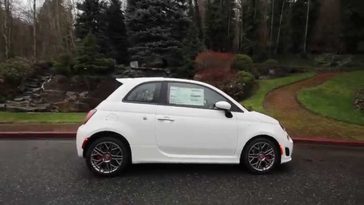 2015 Fiat 500 Abarth White Ft579821 Redmond