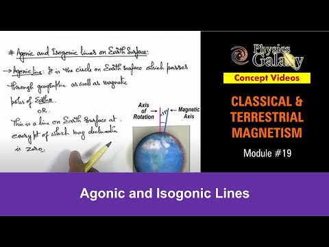 19. Physics | Terrestrial Magnetism | Agonic and Isogonic Lines | by Ashish Arora