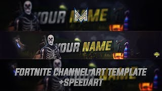 [FREE!!] Fortnite Banner Template + Speedart | Photoshop