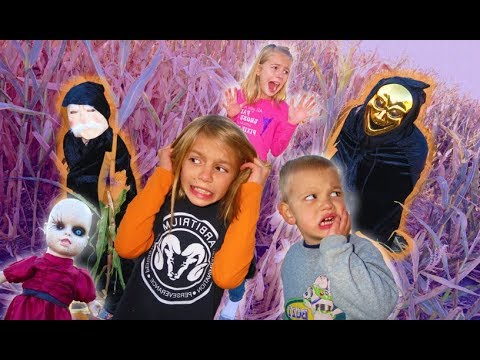 24 Hours in a Haunted Corn Maze | Strange Doll Appears | Doll Maker Skit