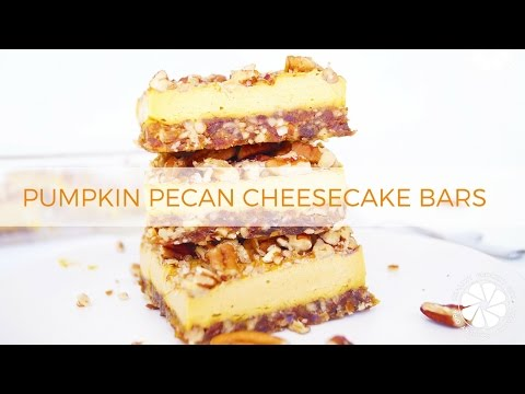 FOOD: Pumpkin Pecan Cheesecake Bars | Holiday Desserts | Healthy Grocery Girl