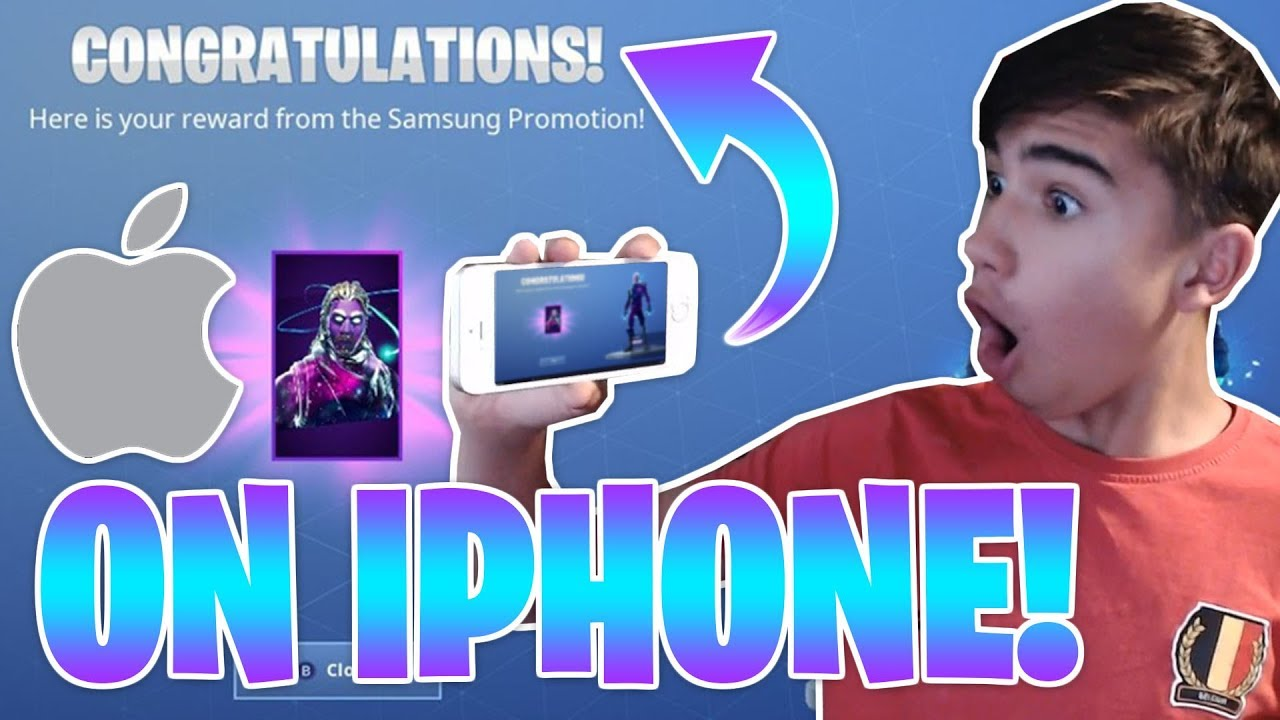 best website a8c74 eeeec *FREE* EXCLUSIVE GALAXY SKIN ON AN IPHONE! [FORTNITE]