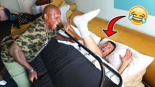 BED PRANK IN HOTEL ROOM... (Dad's Revenge)