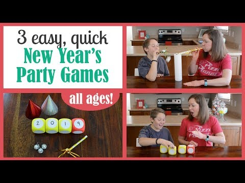 3 Fun NEW YEAR'S Party Games (Dollar Store Supplies)