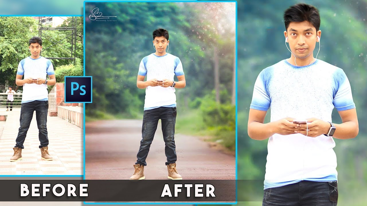 How to Change Blur Background easy Photoshop Manipulations ...