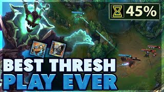 THIS HAS NEVER BEEN DONE | BEST 45% THRESH GAME EVER | 3 SECOND HOOK THRESH SUPPORT - BunnyFuFuu