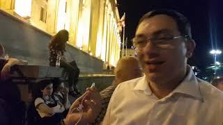 Гига Бокерия и Егор Куроптев с акции протеста в Тбилиси. День 7