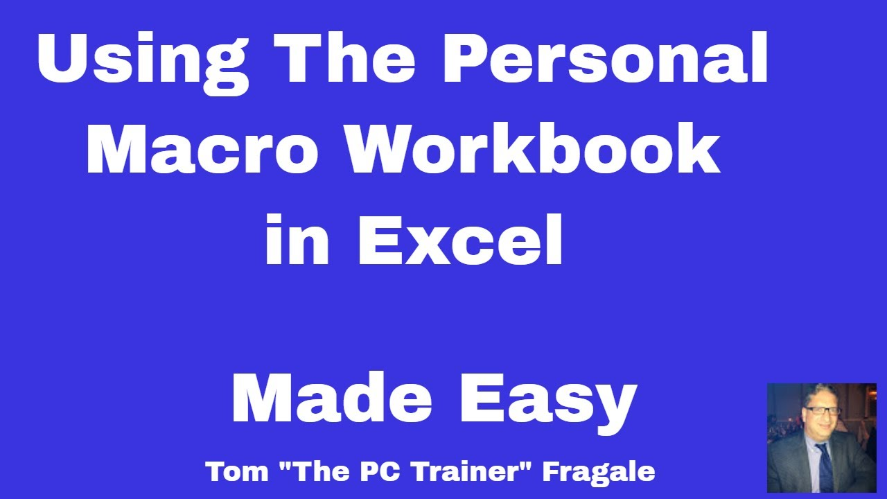 Personal Macro Workbook in Excel How to use & manage the Personal ...