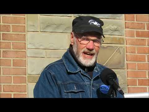 Chuck Heyn  -  Vietnam War Veteran Speaks at Veterans for Peace Rally  -  11-11-17