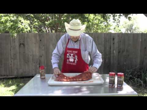 Part 1  How To Cook Texas BBQ - Smoke Pork Spare Ribs With Dry Rub