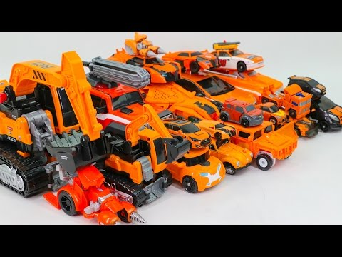 Orange Color Transformers RID Movie Carbot Tobot Athlon 23 Vehicle Robot Car Toys