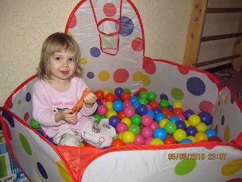 Бассейн с шариками для детей распаковка играем в сухом бассейне Pool with balls for children