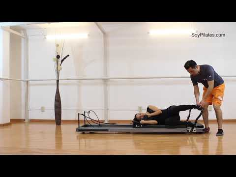 Ejercicios Pilates Reformer | Footwork 11 Utilateral Lateral 1
