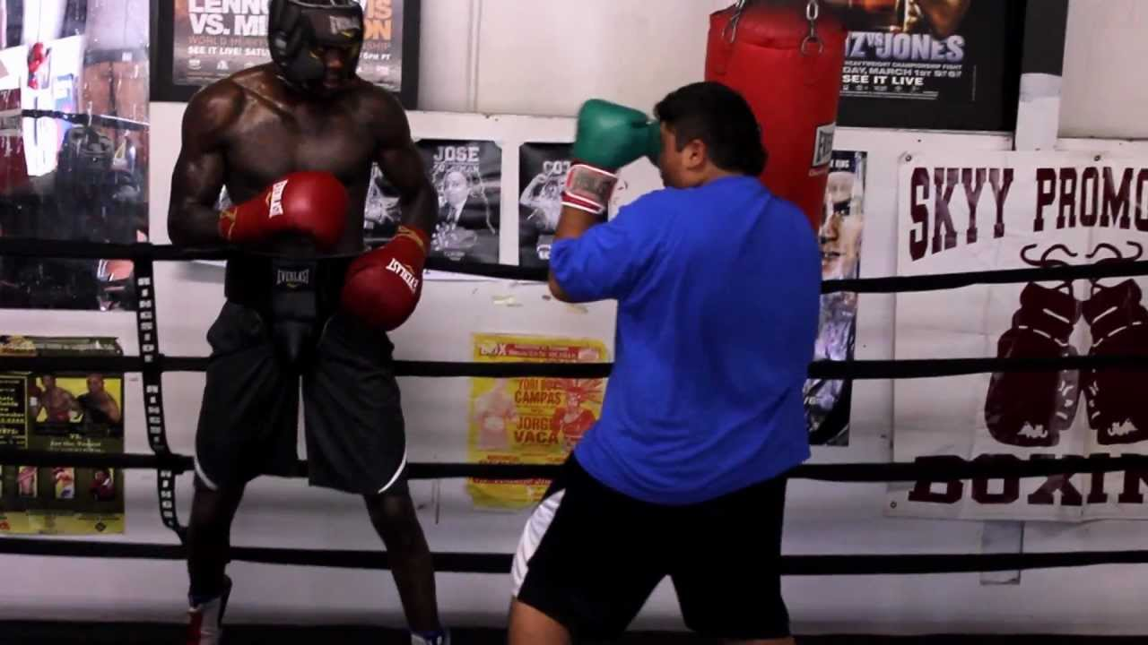 Deontay Wilder At Practice YouTube