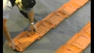 Łacenie połaci dachowej rozmierzanie długości i szerokości krycia dachówka Roben
