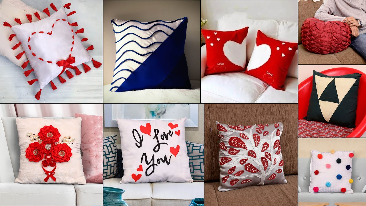 Couple Cushion Cover at Home! Old Clothes Reuse | Best Out fo Waste