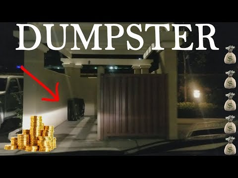LATE NIGHT DUMPSTER DIVING WHAT DID RICH PEOPLE THROW AWAY?