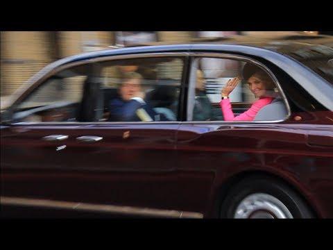 Dutch Royals and Duke of Kent leaving HNLMS Zeeland